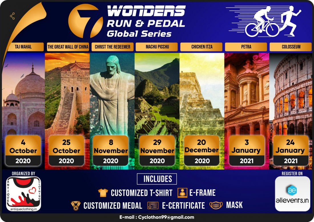 7 WONDER RUN & PEDAL GLOBAL ALL SERIES | Online Event | AllEvents.in