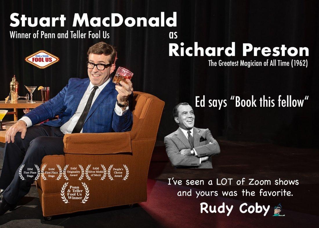 Fool Us Winner Stuart MacDonald ZOOM Magic Show
