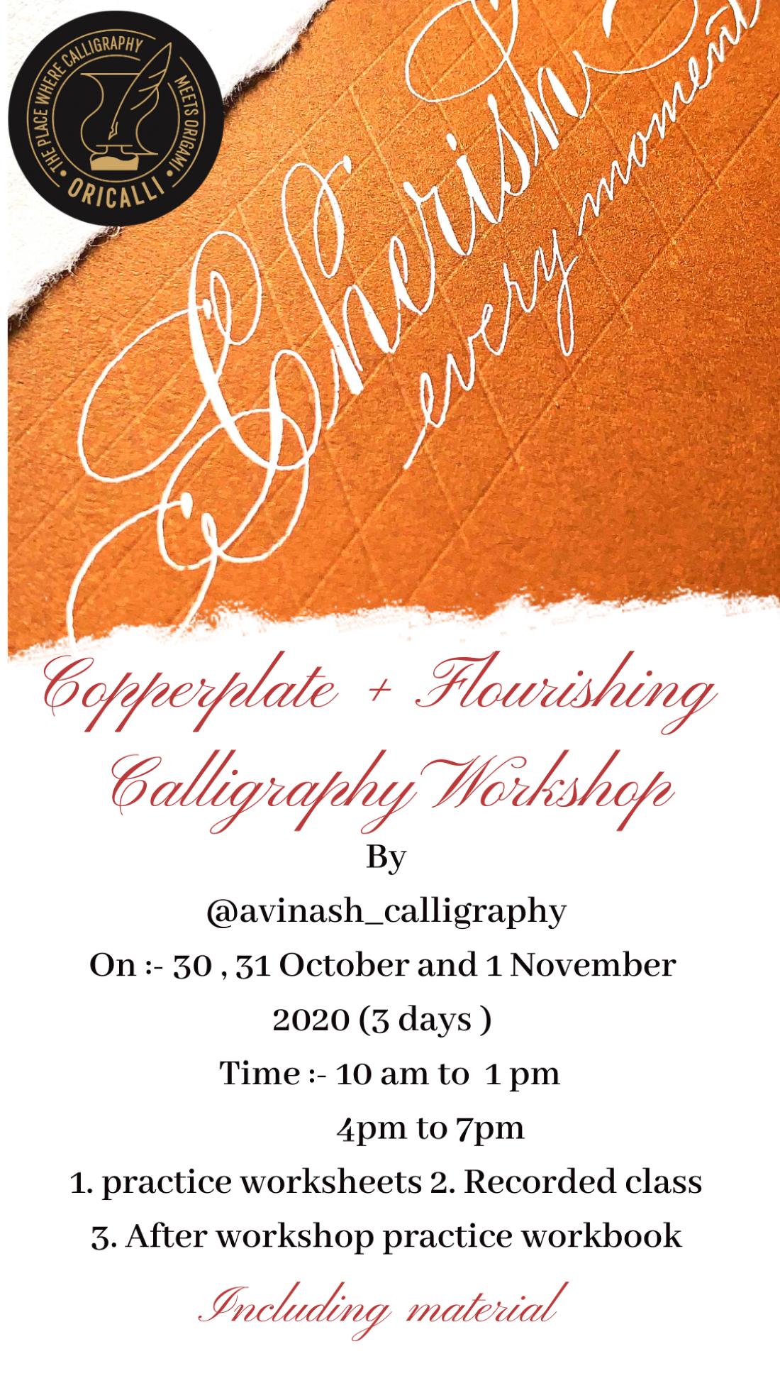 Copperplate + Flourishing Calligraphy workshop, 30 October | Online Event | AllEvents.in