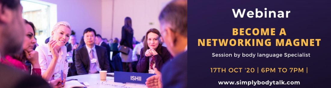 Become a Networking Magnet by Simply Body Talk   Online Event   AllEvents.in