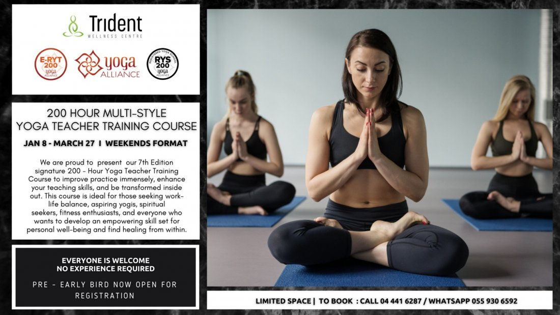 200 Hour Multi-Style Yoga Teacher Training Course , 8 January   Event in Dubai   AllEvents.in