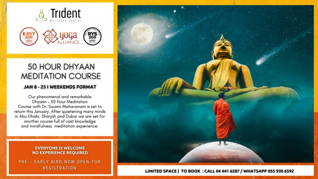 50 Hour Dhyaan Meditation Course, 8 January | Event in Dubai | AllEvents.in