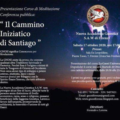 CORSO DI MEDITAZIONE LA GNOSI UNIVERSALE PRESENTAZIONE SABATO 17 OTTOBRE 2020 - FIRENZE
