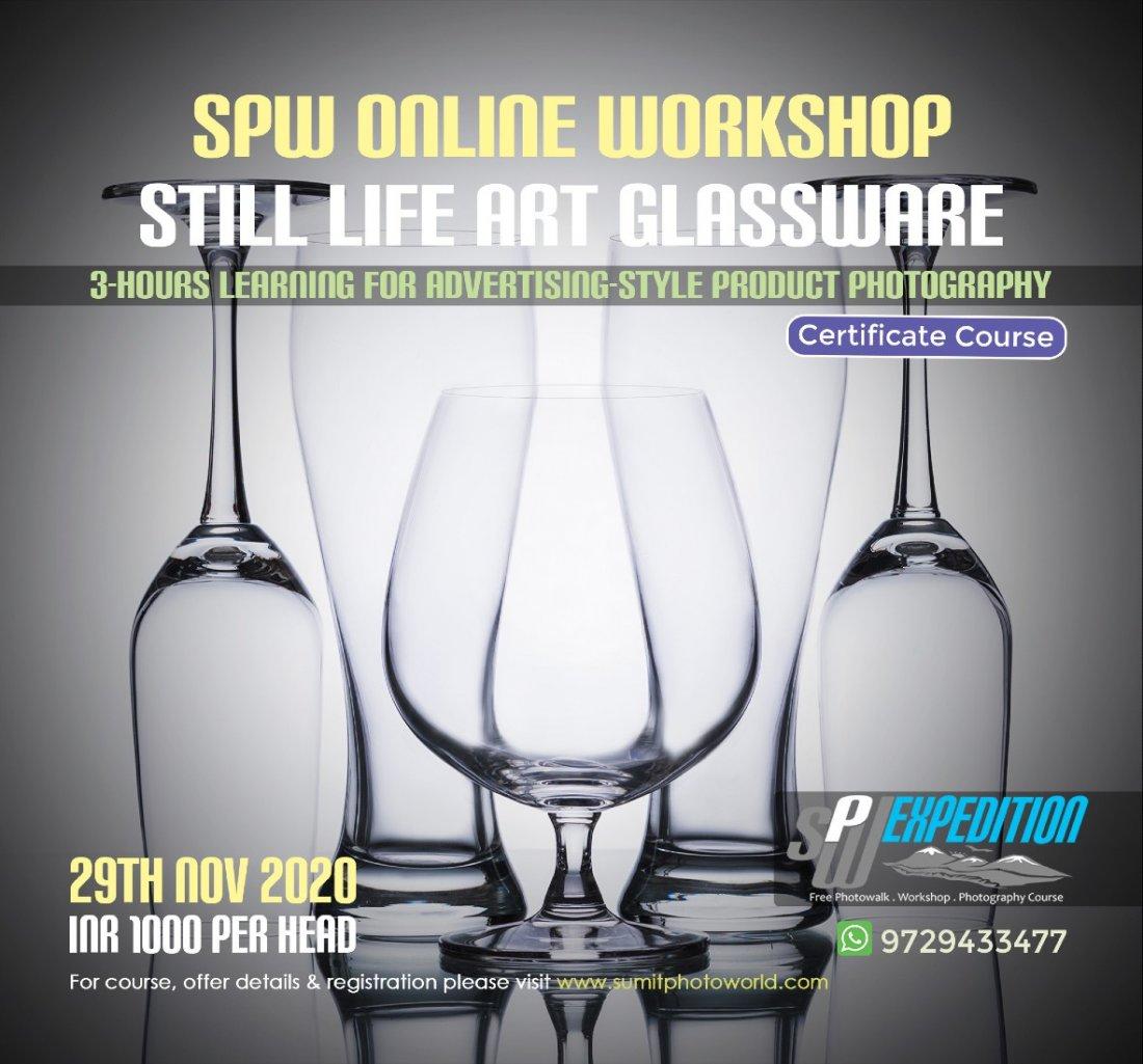 Still Life Art - Glassware Photography, 29 November | Online Event | AllEvents.in