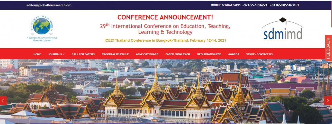 29th International Conference on Education, Teaching, Learning & Technology (Online & Onsite Mode), 12 February