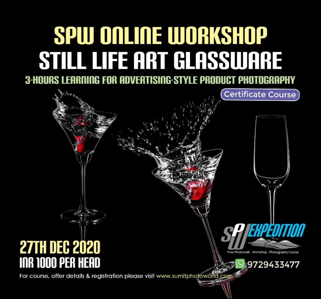 Still Life Art - Glassware Photography, 27 December   Online Event   AllEvents.in