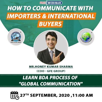 """FREE Webinar on &quotHOW to Communicate with IMPORTERS and International BUYERS"""""""