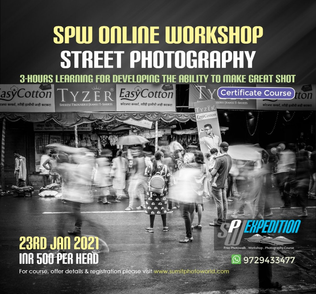Street Photography Workshop, 23 January | Online Event | AllEvents.in