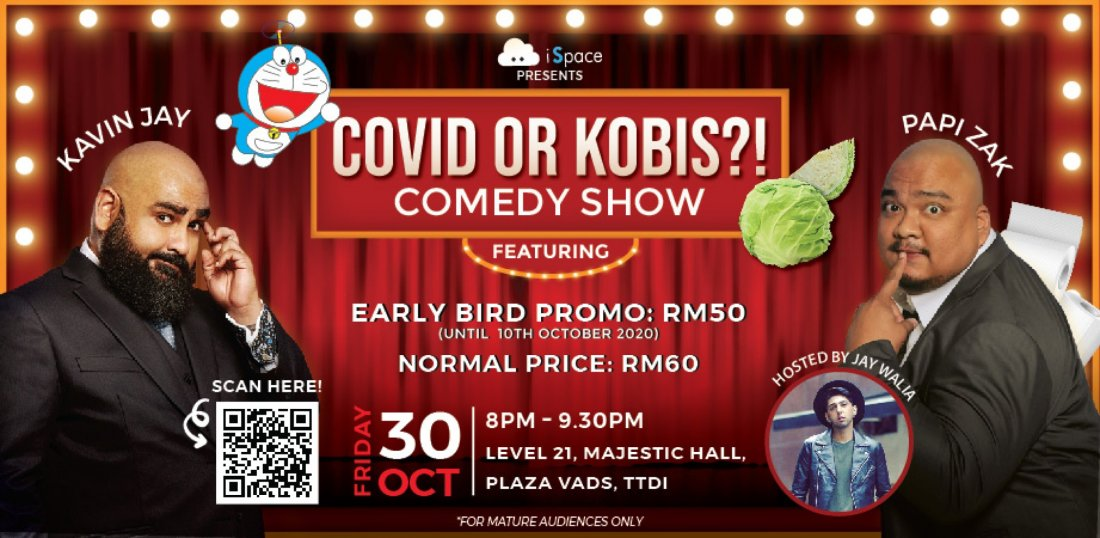 Covid or Kobis?! Comedy Show Ft Kavin Jay and Papi Zak, 30 October   Event in Kuala Lumpur   AllEvents.in