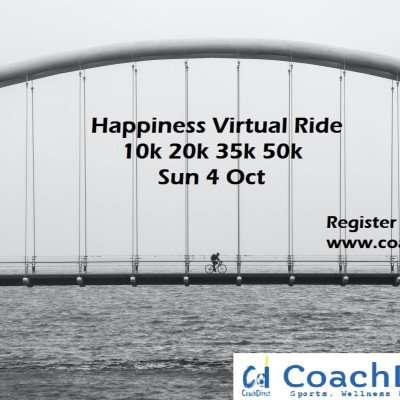 Happiness free virtual run and ride