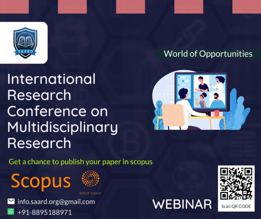 SAARD - 70th International Conference on Multidisciplinary Research (ICMR), 3 December | Online Event | AllEvents.in