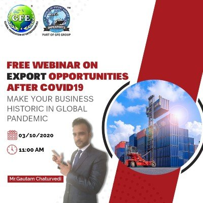 """FREE Webinar on &quotEXPORT Opportunities after COVID-19"""""""