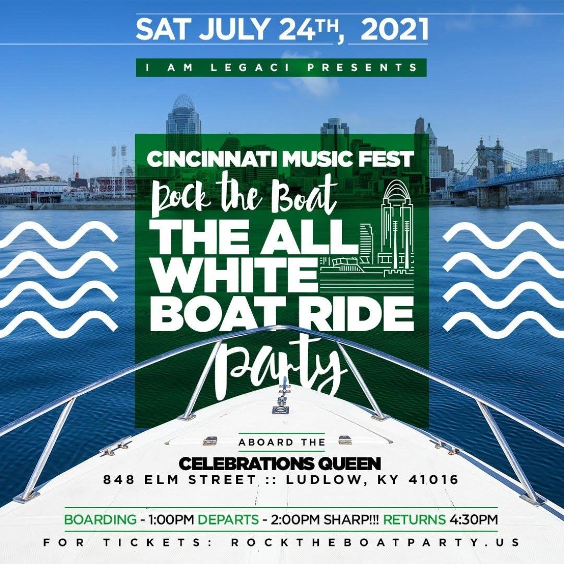 ROCK THE BOAT ALL WHITE BOAT RIDE DAY PARTY CINCINNATI MUSIC FESTIVAL 2021, 24 July | Online Event | AllEvents.in