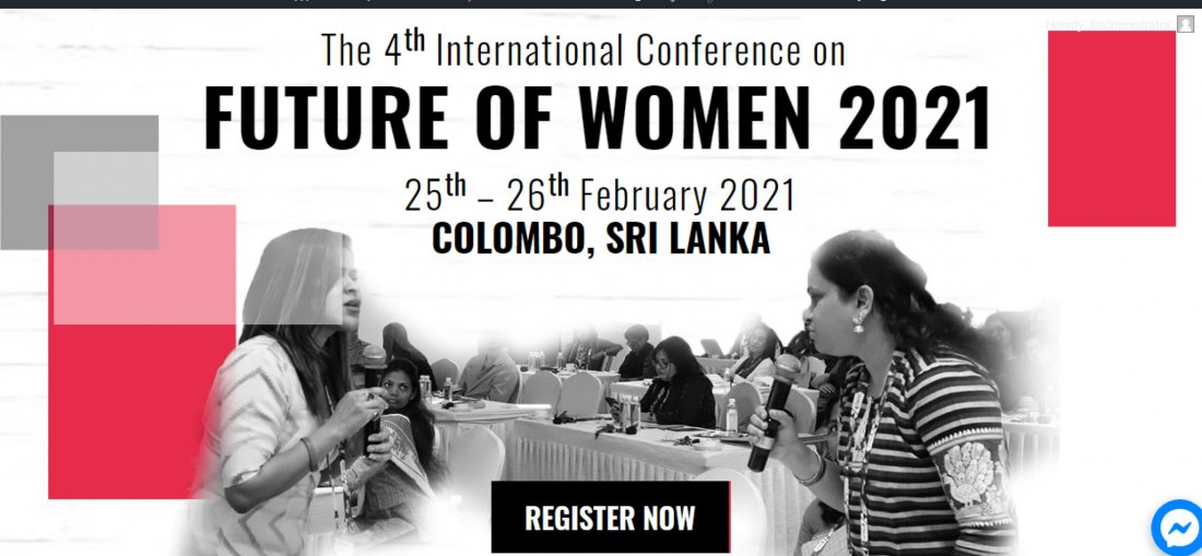 The 4th International Conference on Future of Women 2021 - (FOW 2021), 25 February | Event in Colombo | AllEvents.in
