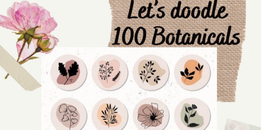 Let's Doodle 100 Botanicals by Art Amore (Recorded Session), 31 October | Online Event | AllEvents.in
