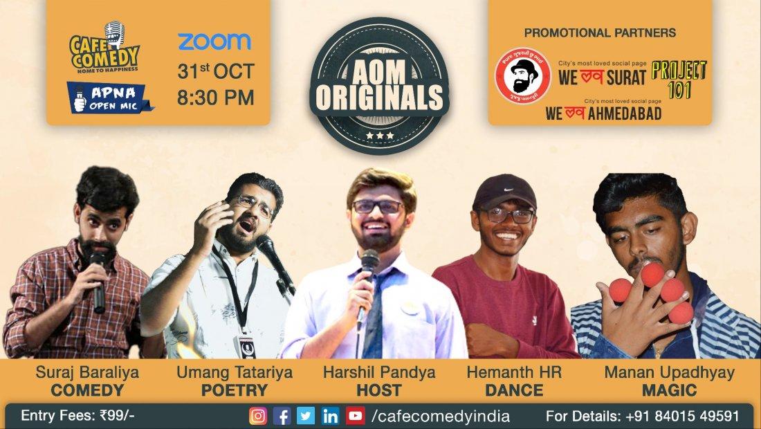 AOM Originals : A Multiple Artform Show, 31 October | Online Event | AllEvents.in
