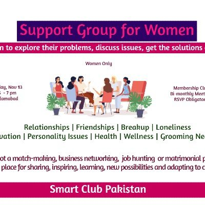 Support Group Meetup for Women Islamabad