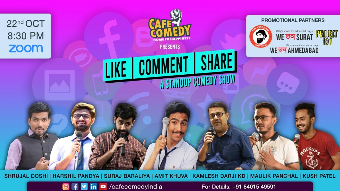 Like, Comment, Share : A Theme Based Show | Online Event | AllEvents.in