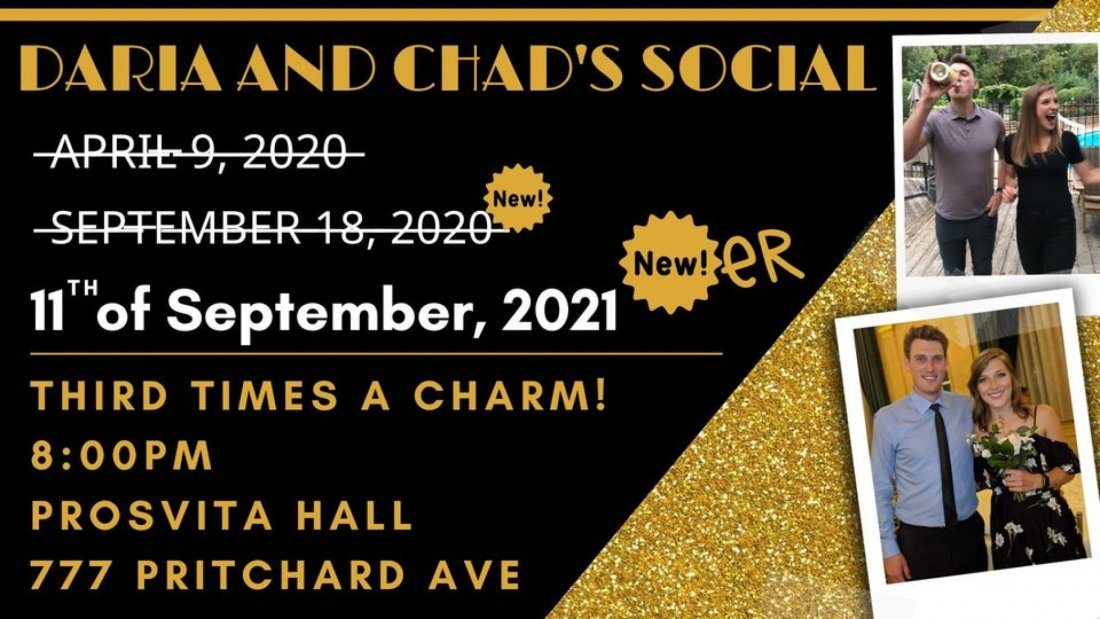 Daria and Chad's Wedding Social, 11 September | Event in Prosvita Hall Winnipeg | AllEvents.in