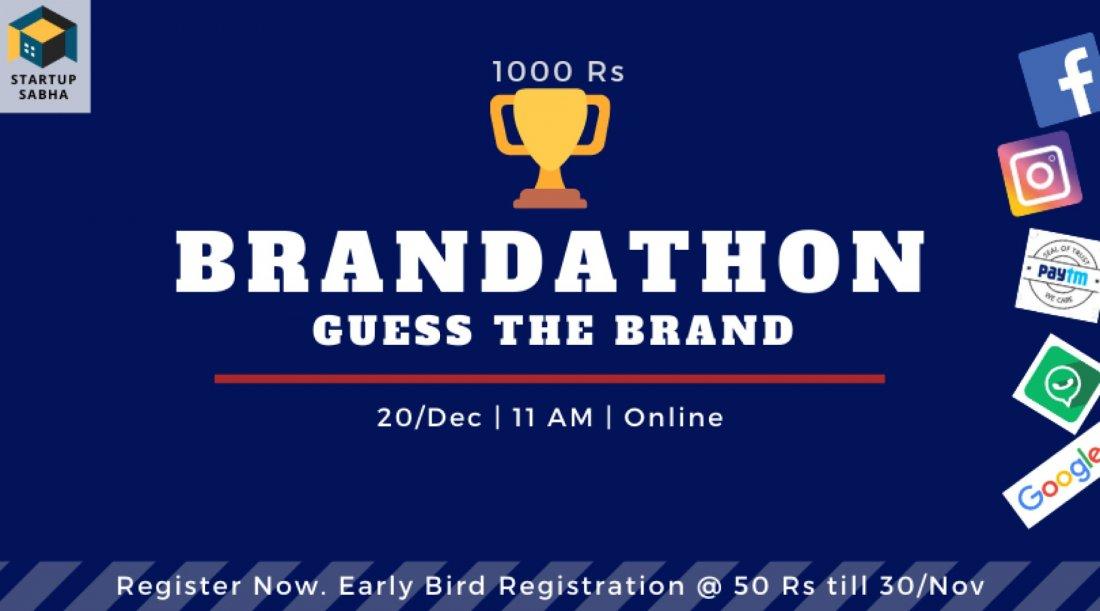 Brandathon by Startup Sabha - Winter Addition 2020, 20 December | Online Event | AllEvents.in