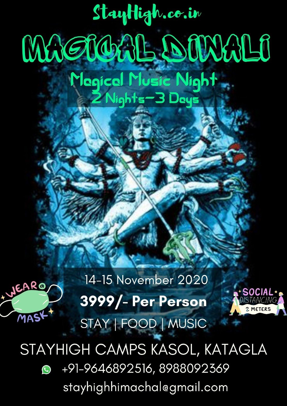 MAGICAL DIWALI 2020, 14 November | Event in Kasol | AllEvents.in