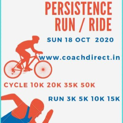 PERSISTENCE  FREE Virtual Run  Ride - Sunday 18th Oct 2020 Run or Cycle