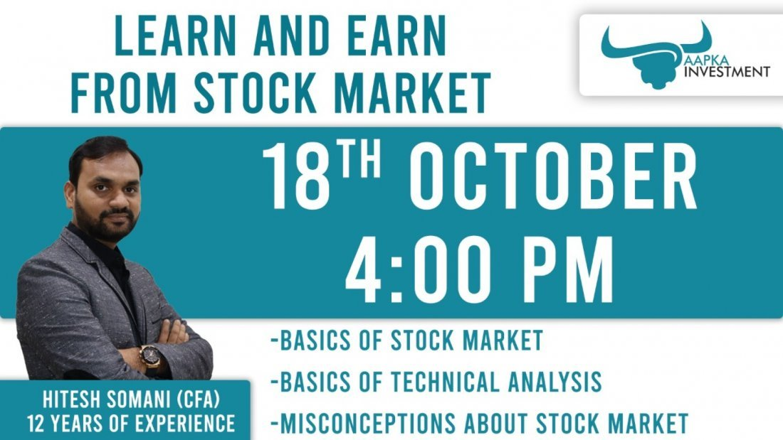 Learn How to Earn from Stock Market by CFA Hitesh Somani | Online Event | AllEvents.in