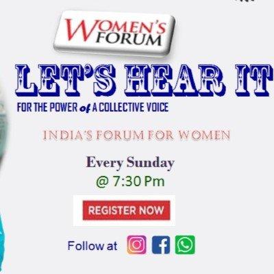 Women Forum Lets Hear It