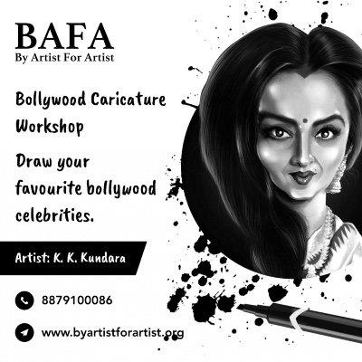 Bollywood Caricature Workshop with BAFA
