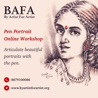 Pen Portrait workshop with BAFA