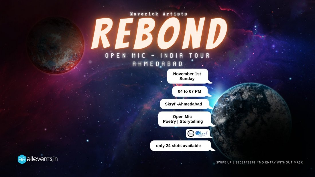 Rebond Open Mic, 1 November | Event in Ahmedabad | AllEvents.in