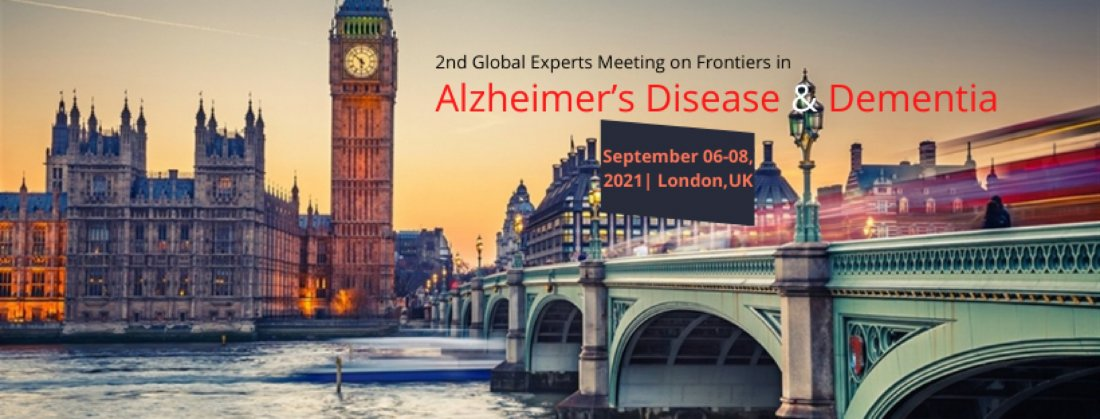 2nd Global Experts Meeting on Frontiers in Alzheimer's Disease & Dementia, 6 September | Event in West Drayton