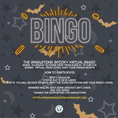 The Singletons Spooky Virtual Bingo