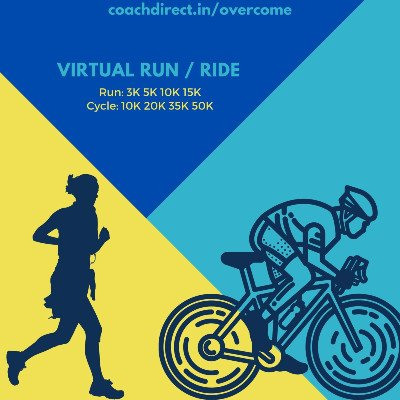 OVERCOME - FREE Virtual Run  Ride