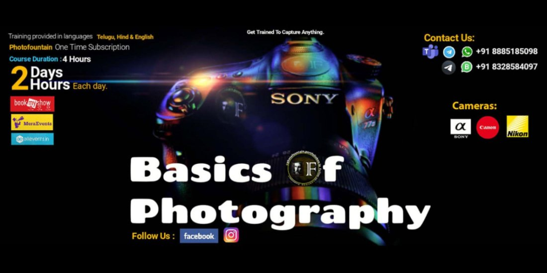 Basics Of Photography - Online Training Course | Online Event | AllEvents.in