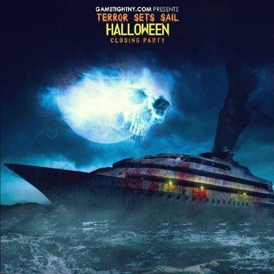 NYC Halloween House EDM Midnight Yacht Party Cruise at Skyport Marina Jewel Yacht