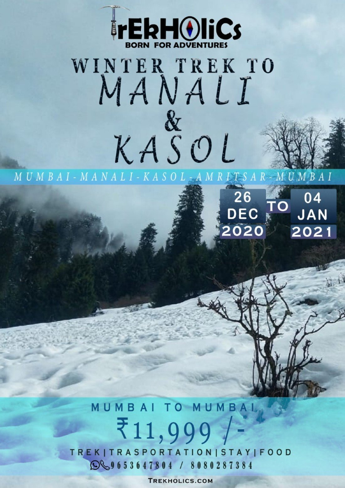 winter trek to manali & kasol, 26 December   Event in Manali   AllEvents.in