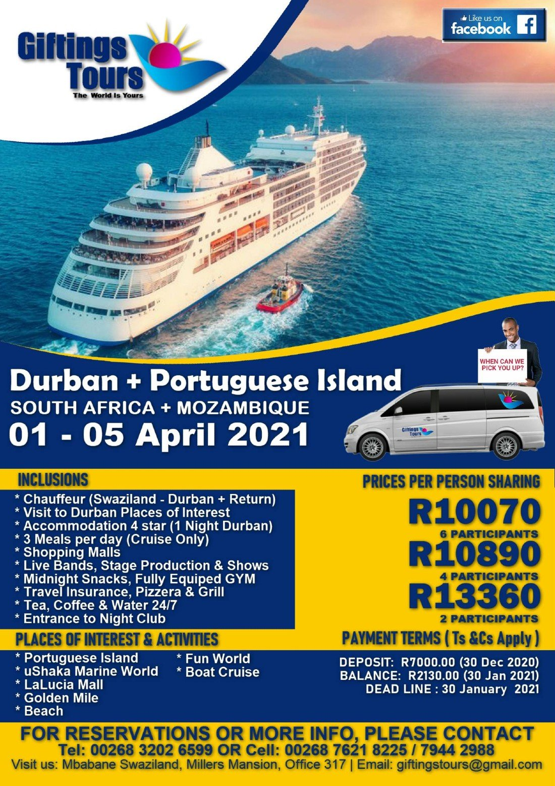 Durban & Portuguese Island 2, 1 April | Event in Maputo | AllEvents.in