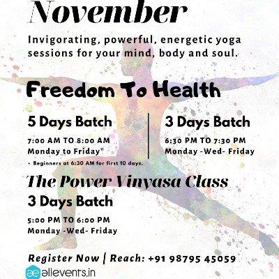 Yog with Meeta Monthly Yoga  NOVEMBER