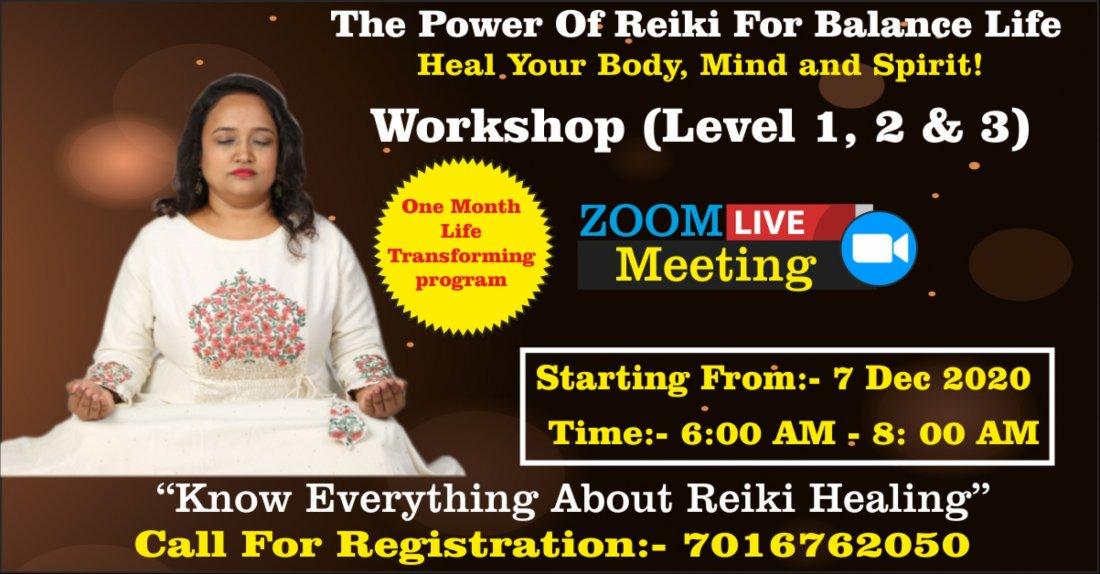 Dr.Yogini's Reiki Healing Workshop (Level 1,2 & 3 ), 7 December | Online Event | AllEvents.in