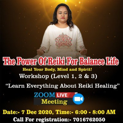 Dr.Yoginis Reiki Healing Workshop (Level 12 & 3 )