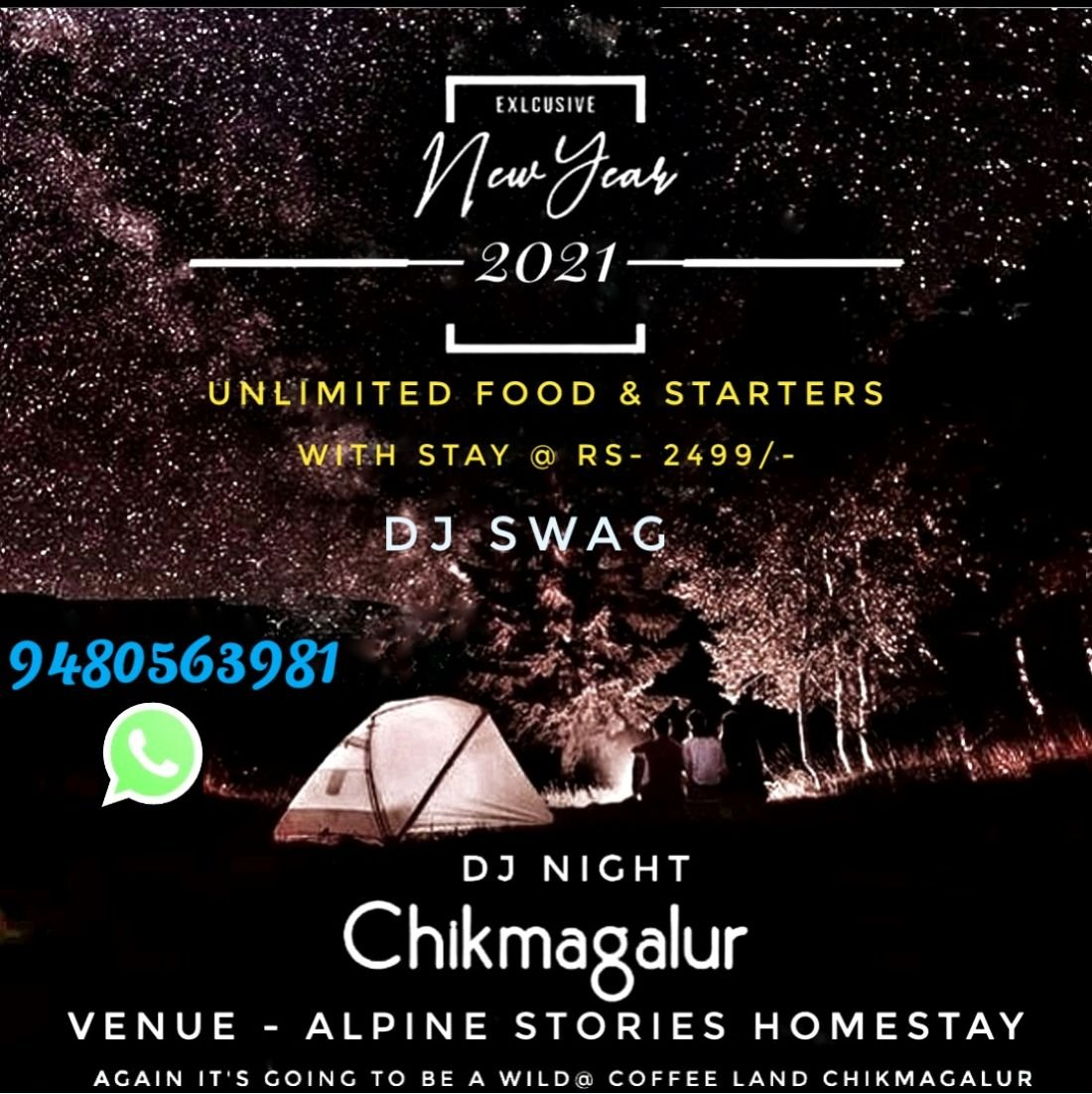 New Year 12 Celebration At Chikmagalur, ALPINE STORIES HOMESTAY