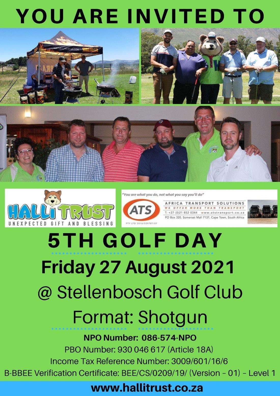 Halli Trust 5TH GOLF DAY, 27 August   Event in Stellenbosch   AllEvents.in