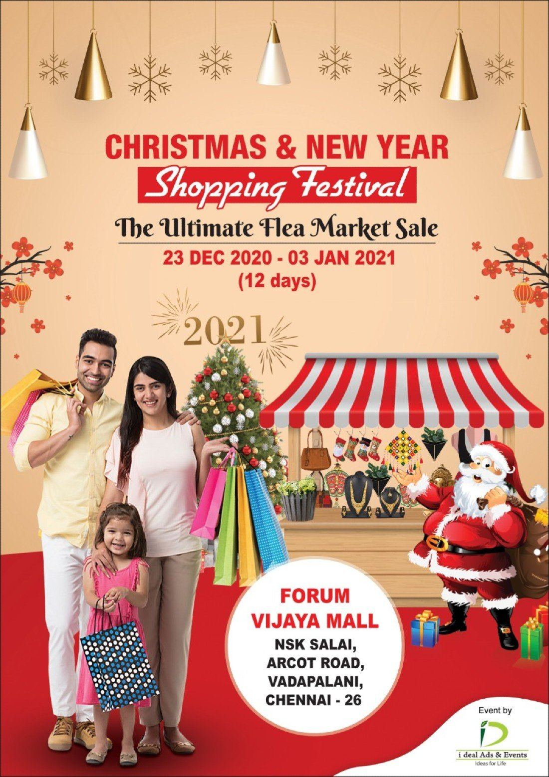 2021 Christmas Events Christmas New Year Shopping Festival Forum Vijaya Mall Chennai December 23 To January 3 Allevents In