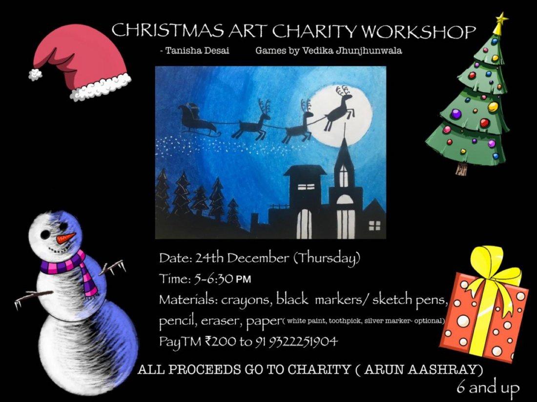 Christmas Art Charity Workshop, 24 December | Online Event | AllEvents.in