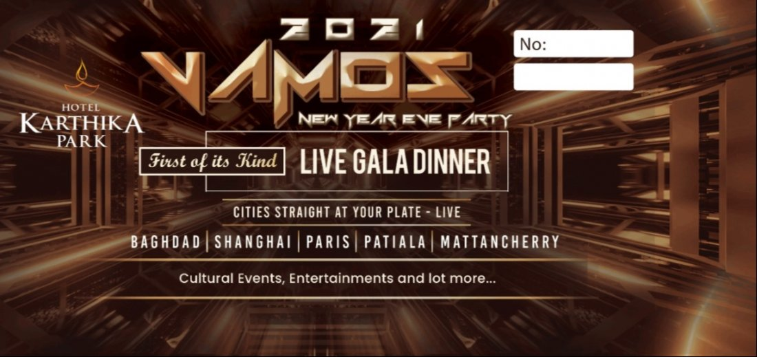 VAMOS 2021 - New Year Eve Party Trivandrum, 31 December | Event in Trivandrum | AllEvents.in