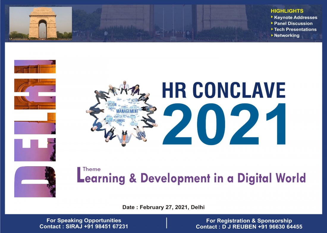 Delhi HR Conclave 2021, 27 February   Event in New Delhi   AllEvents.in