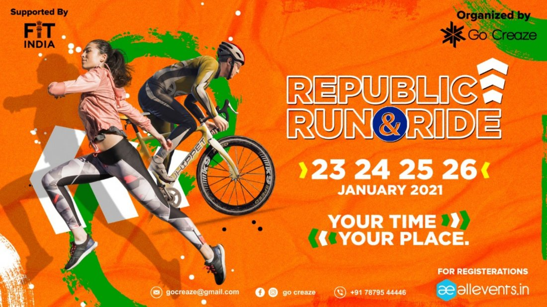 REPUBLIC DAY RUN & RIDE 2021, 23 January | Online Event | AllEvents.in
