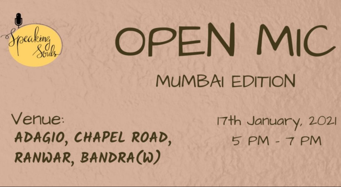 Speaking Souls : Mumbai Open Mic | Event in Mumbai | AllEvents.in