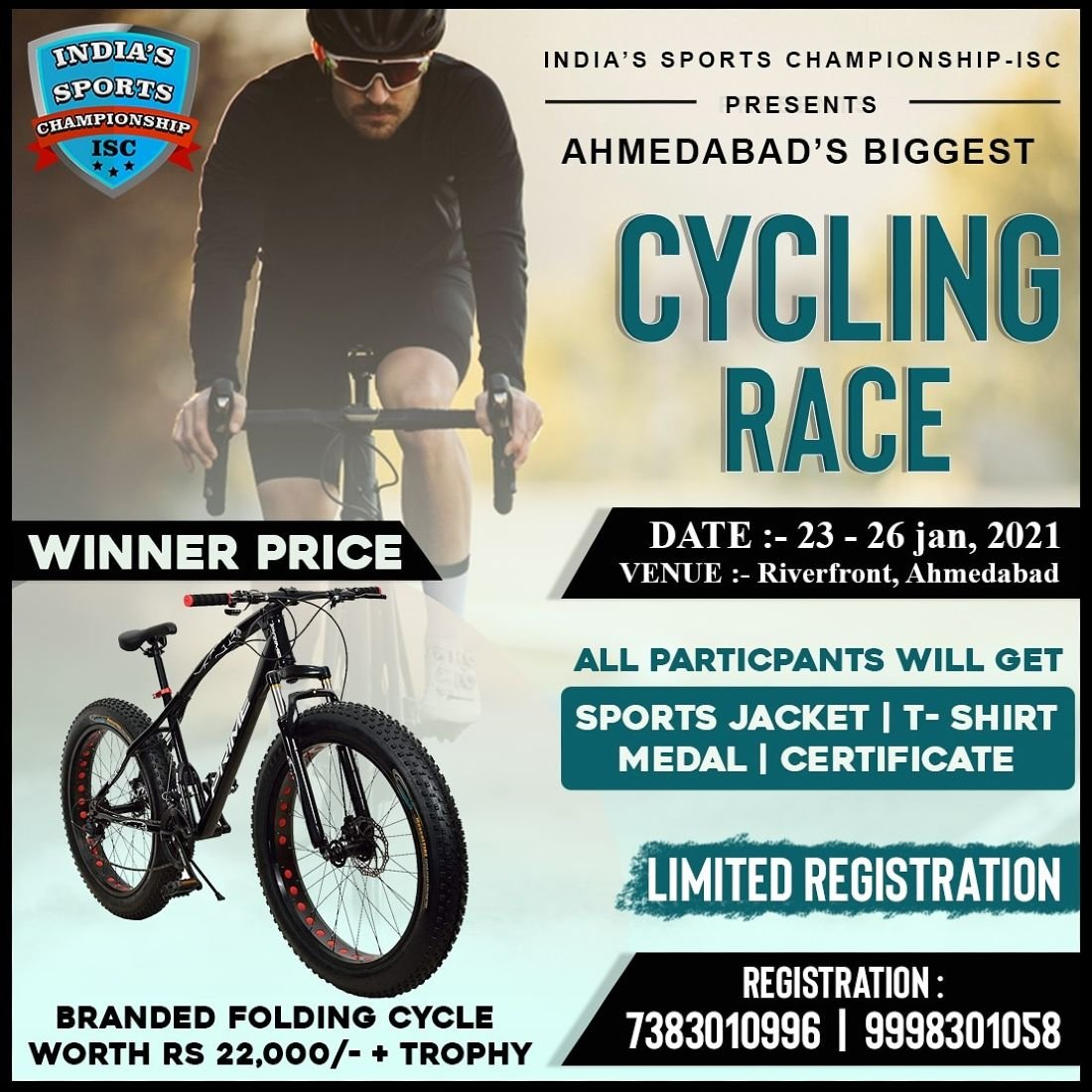 Ahmedabad's Running / Cycling league Match, 23 January | Event in Ahmedabad | AllEvents.in